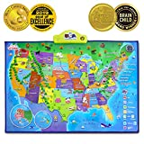 world map poster old - BEST LEARNING i-Poster My USA Interactive Map - Educational Talking Toy for Kids of Ages 5 to 12 Years