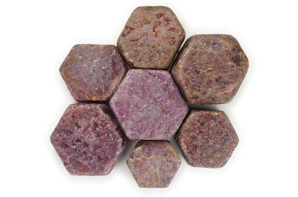 Hypnotic Gems Materials: 1 lb Natural Hexigonal Ruby Stones from India - Rough Bulk Raw Natural Crystals for Cabbing, Tumbling, Lapidary, Polishing, Wire Wrapping, Wicca & Reiki Crystal Healing