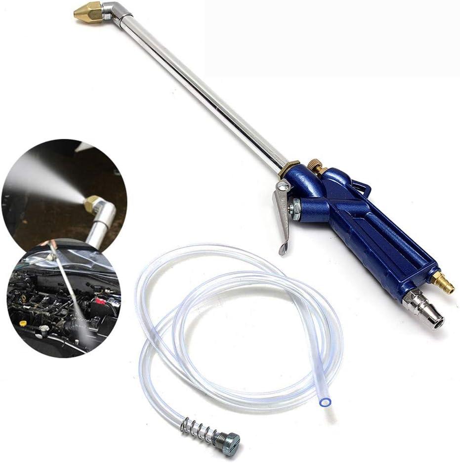 Pistola de soplado de aire, pistola de limpieza automática de agua de aceite de motor de coche de 400 mm, herramienta neumática con motor de aleación de piezas de maquinaria de manguera de 120 cm