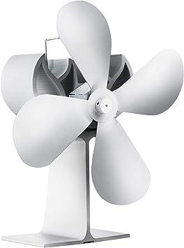 Chimenea con ventilador, 4 aspas, ventilador para estufa ...
