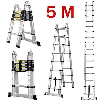 Großartig Finether 5M Teleskopleiter Klappleiter ausziehbare Leiter  TC16
