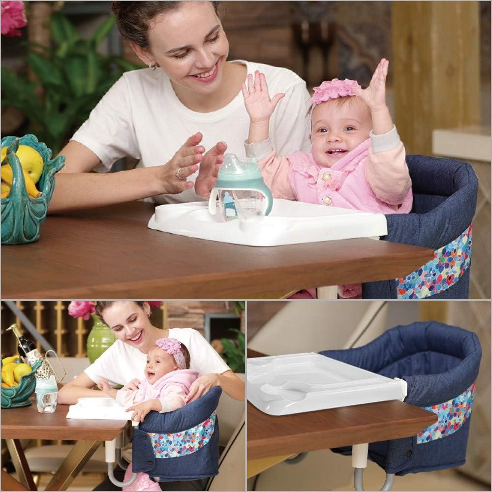 con cintur/ón de seguridad apta para la mesa azul port/átil seguro Mosbaby Trona para beb/é infantil con mesa de comedor f/ácil de plegar estable elegante