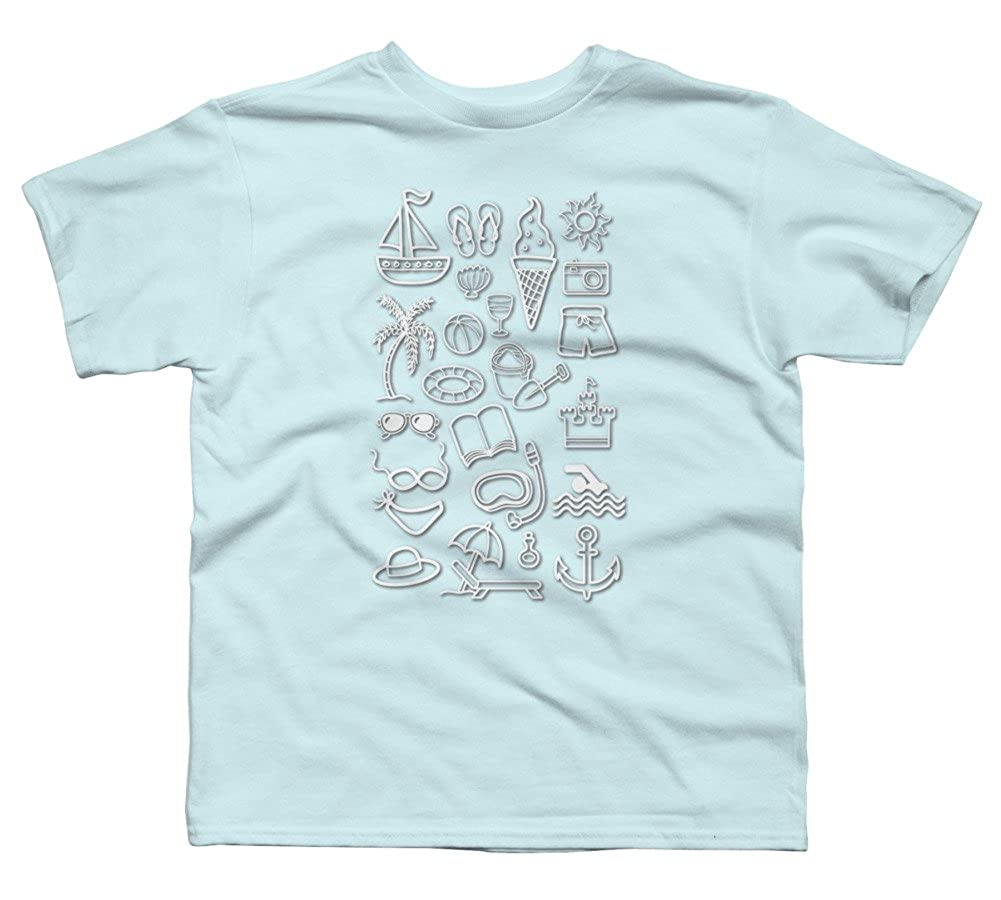 Design By Humans Beach Holiday Boys Youth Graphic T Shirt