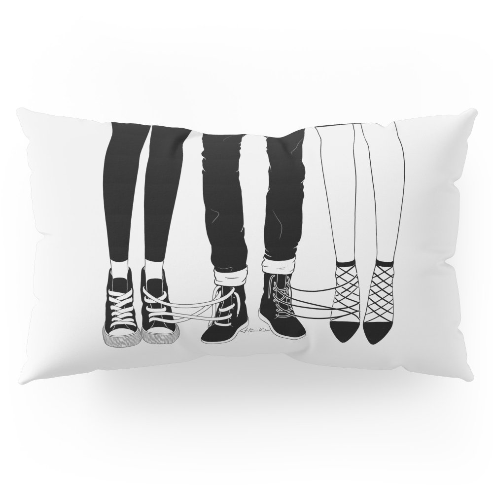 Society6 Love Triangle Pillow Sham King (20'' x 36'') Set of 2