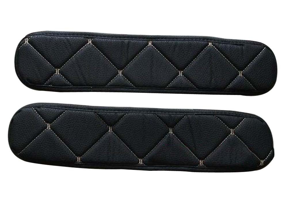 Leather Center Console Armrest Cover Black Black Temptation