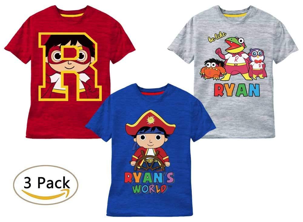Ryan's World 3 Pack T-Shirts (4)