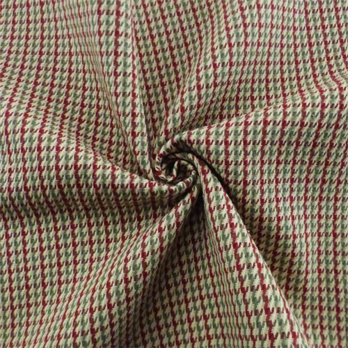 Red/Multi Houndstooth Twill Plaid Home Decorating Fabric, Fabric by The Yard (Houndstooth Fabric Upholstery)