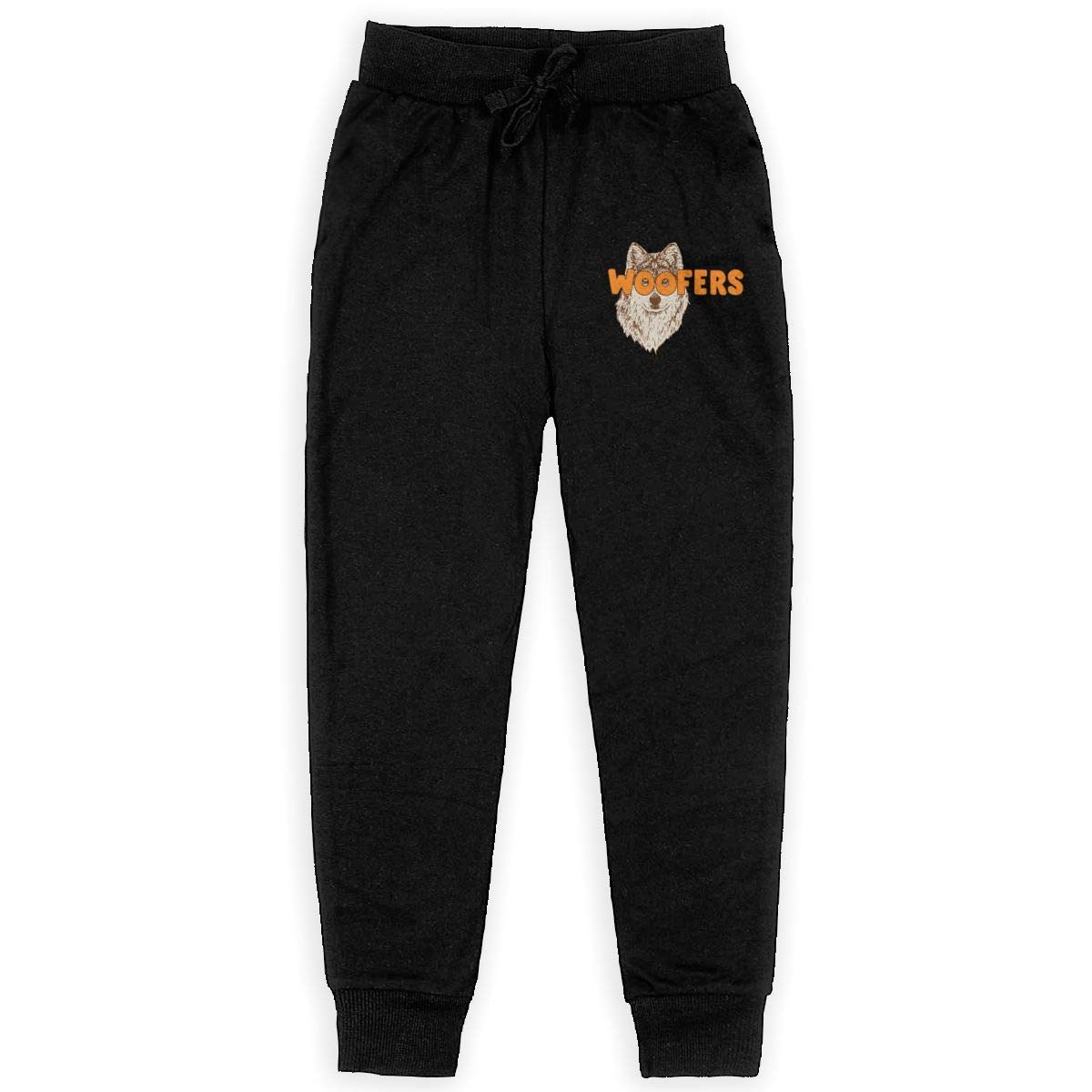 Dunpaiaa Woofers Boys Sweatpants,Joggers Sport Training Pants Trousers Black