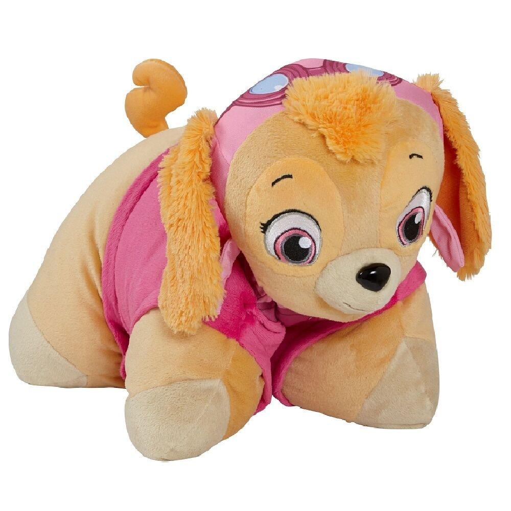 Pillow Pets Nickelodeon Paw Patrol, Skye Helicopter Pilot, 16'' Stuffed Animal Plush Toy