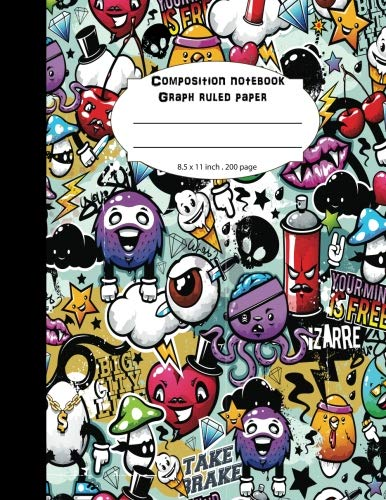 Composition notebook Graph ruled paper: Graffity 4x4 per inch graph for notes,graphing, and writing (Cool Graffity)