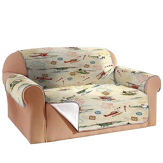 Nncande - Funda para sofá de 1 Pieza, diseño de avión Retro ...