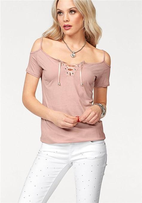 Básica Algodóncamisetas De Camiseta Smx Veranoelegante Mujer qC01w8