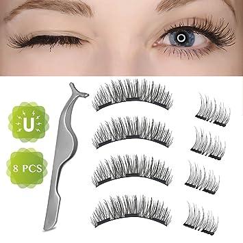 c18a5d574bb Magnetic False Eyelashes, Basa Dual False Eyelashes Magnetic Plus Eyelash  Tweezers, Upgrade 3D Reusable