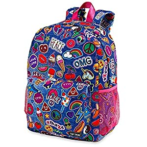 Top Trenz Inc 2 Zipper Scented Backpack (Patch 2 zipper)