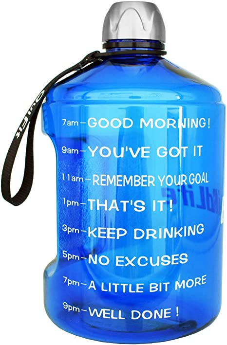 Buildlife Gallon 2L 3.78 L Water Bottle with Unique Timeline BPA FREE