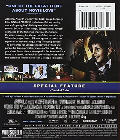 Amazon.com: Cinema Paradiso [Blu-ray]: Antonella Attili ...