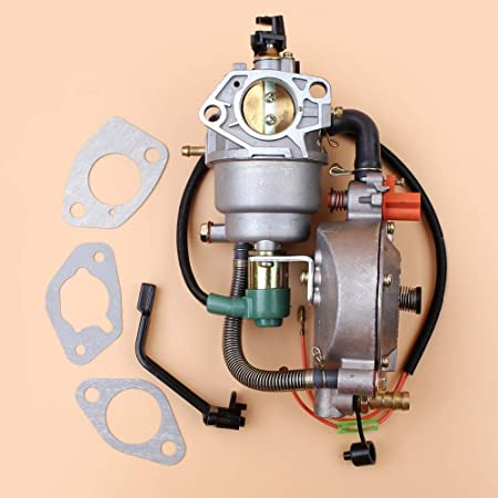 Amazon Com Beixi Time Manual Choke Dual Fuel Carburetor Fit For Honda Gx390 Gx 390 Chinese Made 188f 13hp 4kw 5kw Gasoline Generator Engine Motor Parts Garden Outdoor