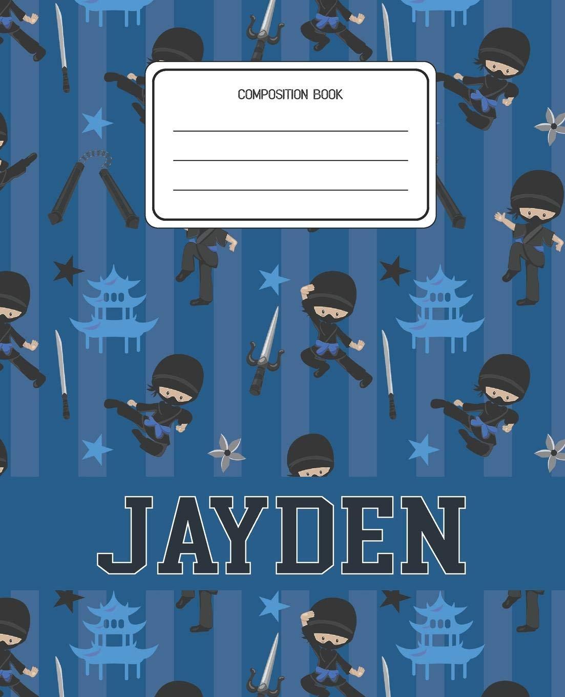 Composition Book Jayden: Ninja Pattern Composition Book Name ...