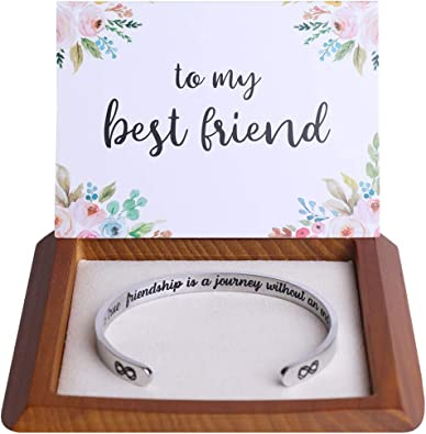 Amazon Com Friendship Gifts Friendship Bracelets Best Friend Gifts For Women Friends Female Bff Bestie Jewelry Best Friend Bracelet Birthday Christmas Ideas Stuff A True Friendship Is A Journey Without An End Jewelry
