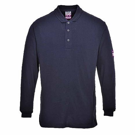 Portwest FR10 - Camisa FR antiestático Polo, color Armada, talla 3 ...
