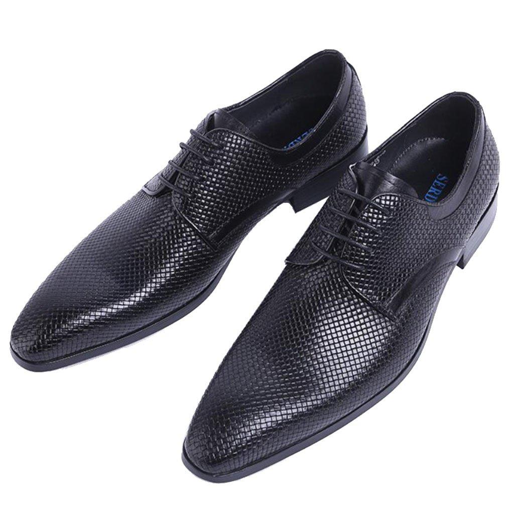 GAOLIXIA Zapatos de cuero a los hombres Zapatos informales de negocios Zapatos de fiesta formal de la boda Inglaterra Zapatos elegantes de los estilistas de pelo Zapatos profesionales de la oficina ( Color : Negro , tamaño : 42 ) 42|Negro