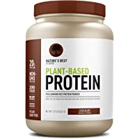 Nature's Best Plant Based Vegan Protein Powder by Isopure - Organic Keto Friendly, Low Carb, Gluten Free, 20g Protein, 0g Sugar, Chocolate, 20 Servings