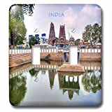 3dRose lsp_80276_2 Hindu Temple In India Double Toggle Switch