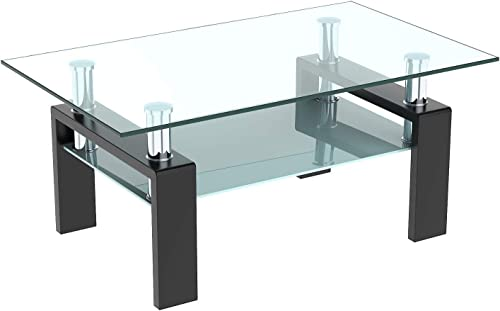 DKLGG Glass Coffee Table