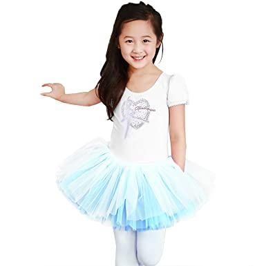 79df90fa168a Amazon.com  XTS Toddlers Kids Girl Dance Bow Costumes Tutu Ballet ...