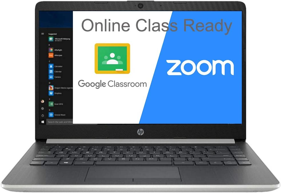 """(Renewed) HP 14 14.0"""" Laptop Computer, AMD A9-9425 up to 3.7GHz, 8GB DDR4 RAM, 128GB PCIe SSD, WiFi, Type-C, HDMI, Webcam, Microphones, Silver, Windows 10 S Mode, SPMOR Mouse Pad, Online Class Ready"""