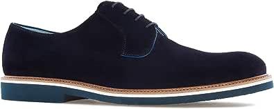 Andres Machado.6103.Zapatos Oxford Serraje .Tallas Pequeñas de la 37/40 y Tallas Grandes Caballero de la 47/52. Made IN Spain