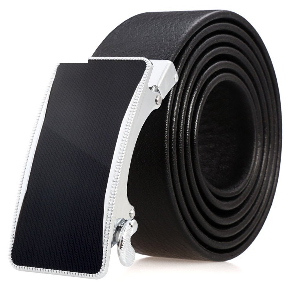 Mens automatic belt buckle/business leather belt/men's casual trousers belts-A 115cm(45inch)