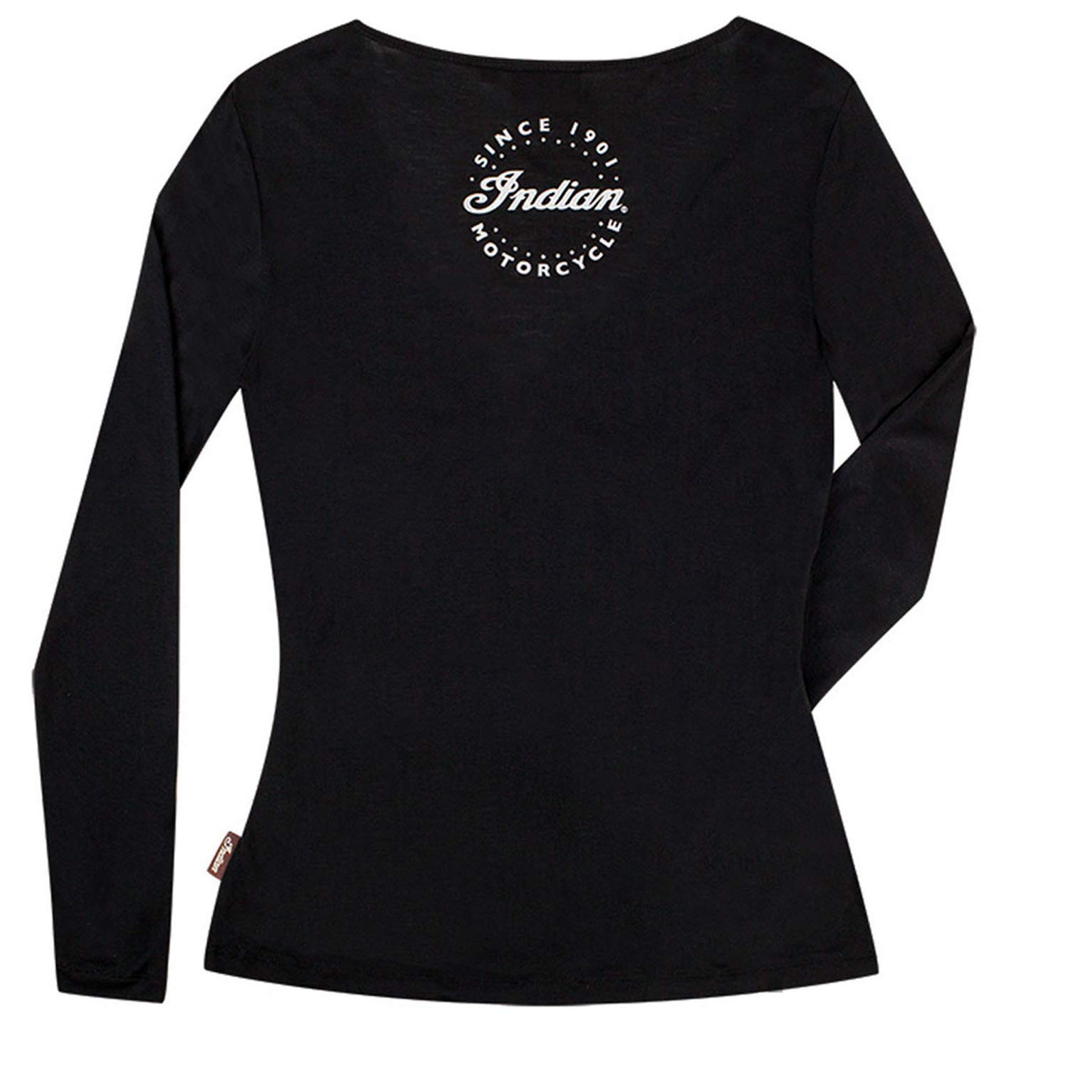 Small 286795502 Indian Motorcycle New OEM Womens Long Sleeve Crossover Black