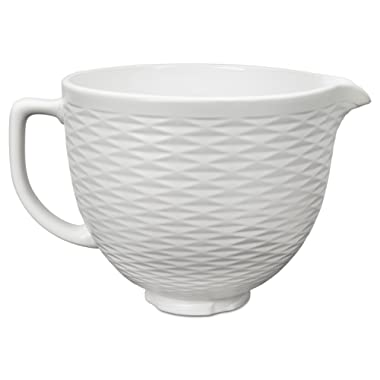 KitchenAid KSMCB5TLW 5-Qt. Tilt-Head Textured Ceramic Bowl - White Chocolate