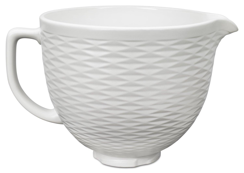 KitchenAid KSMCB5TLW 5-Qt. Tilt-Head Textured Ceramic Bowl - White Chocolate