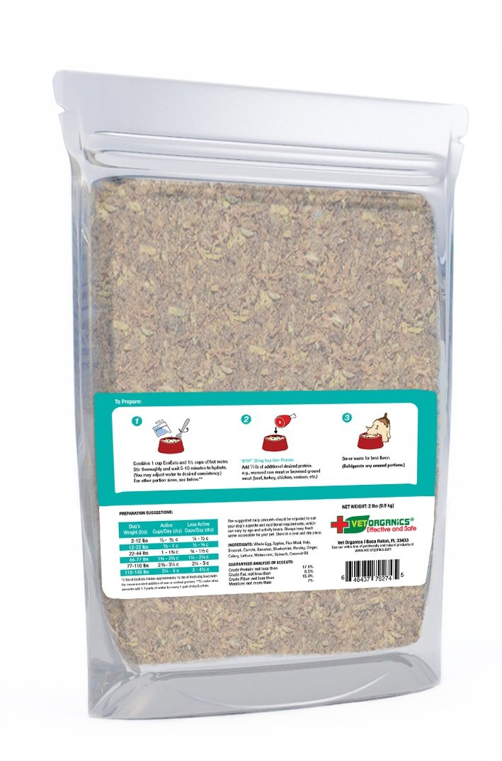 EcoEats Original Recipe Dehydrated Grain Free Dog Food. All-Natural, Healthy, Easy-to-Make. Bring Your Own Protein. Grain-Free Nutritious Dog Food with No Fillers or Preservatives. (2 lb Bag Makes 16 by Vet Organics (Image #2)