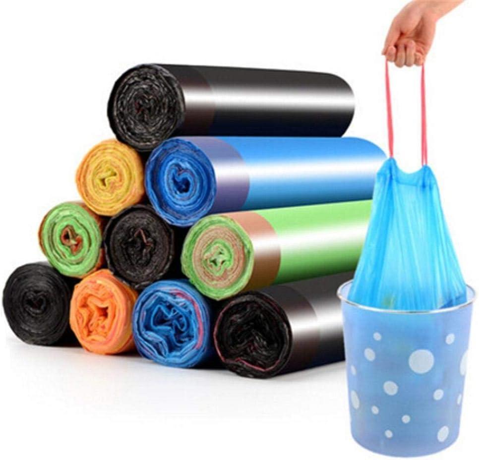LLYX Bin Liners5 Rueda Engrosamiento de Basura Bolsa de Cierre automático de Basura portátil Bolsa de plástico de residuos Cesta Bins Titular de la Basura de la Cocina Cubo Bolsa al Azar