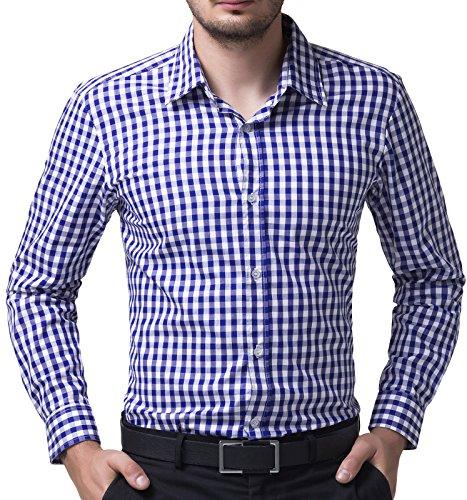 Blue White Check Shirt - 3