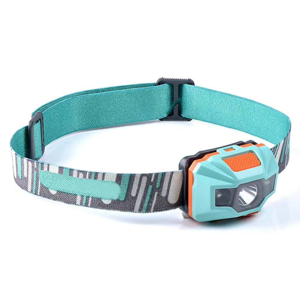 YYHSND LED Im Freien Starke Scheinwerfer Wiederaufladbare Lithium-Batterie Superhelle Bergsteigen Wandern Strapazierfähige Headset Taschenlampe Taschenlampe (Farbe : Grün)