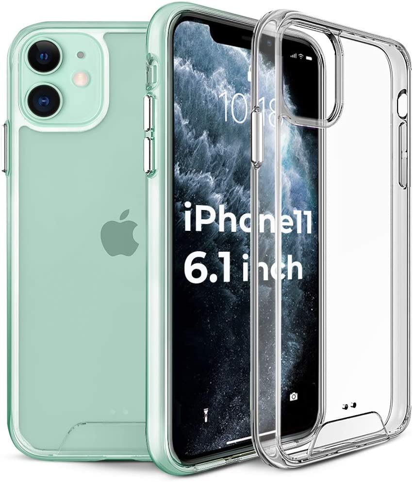 2E Compatible with iPhone 11 Case Clear Shockproof Hard Case for iPhone 11 Crystal Clear Hard PC Back and Soft TPU Bumper Cover Slim Protective Case for Apple iPhone 11 6.1 inch 2019, Space Series