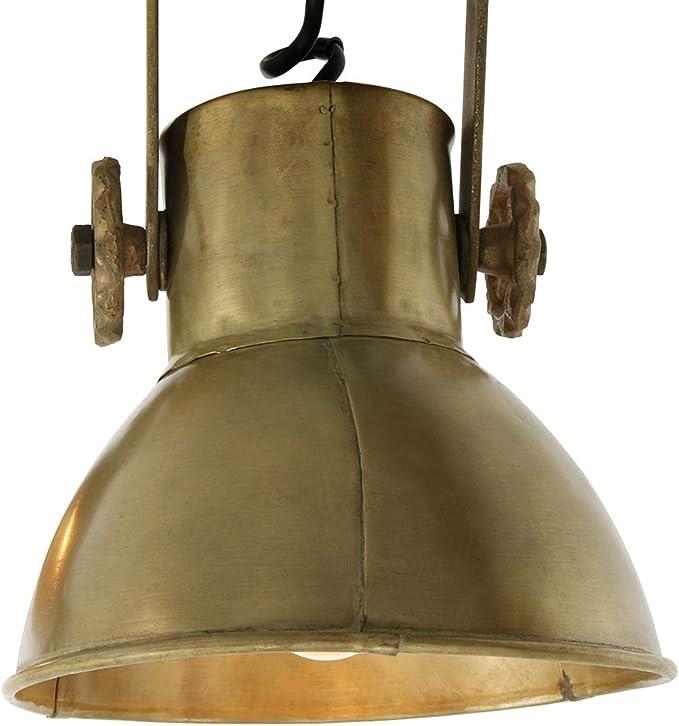 Classe /énerg/étique A+ Light /& Living Elay Spot industriel avec douille E27 40 W Spot en m/étal et bois 65 cm x 18 cm x 26 cm