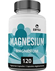 EBYSU Magnesium Bisglycinate Chelate Malate - 120 Vegan Caps - Non-Laxative Effect & High Absorption - Chelated Magnesium Capsules for Sleep, Energy, Muscle Cramps, Anxiety - Vegetarian, Soy & Gluten Free - Max Strength TRAACS