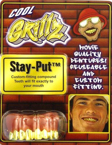 Gangster Rapper Costume (Forum Novelties Men's Novelty Grillz Teeth, Gold, One Size)
