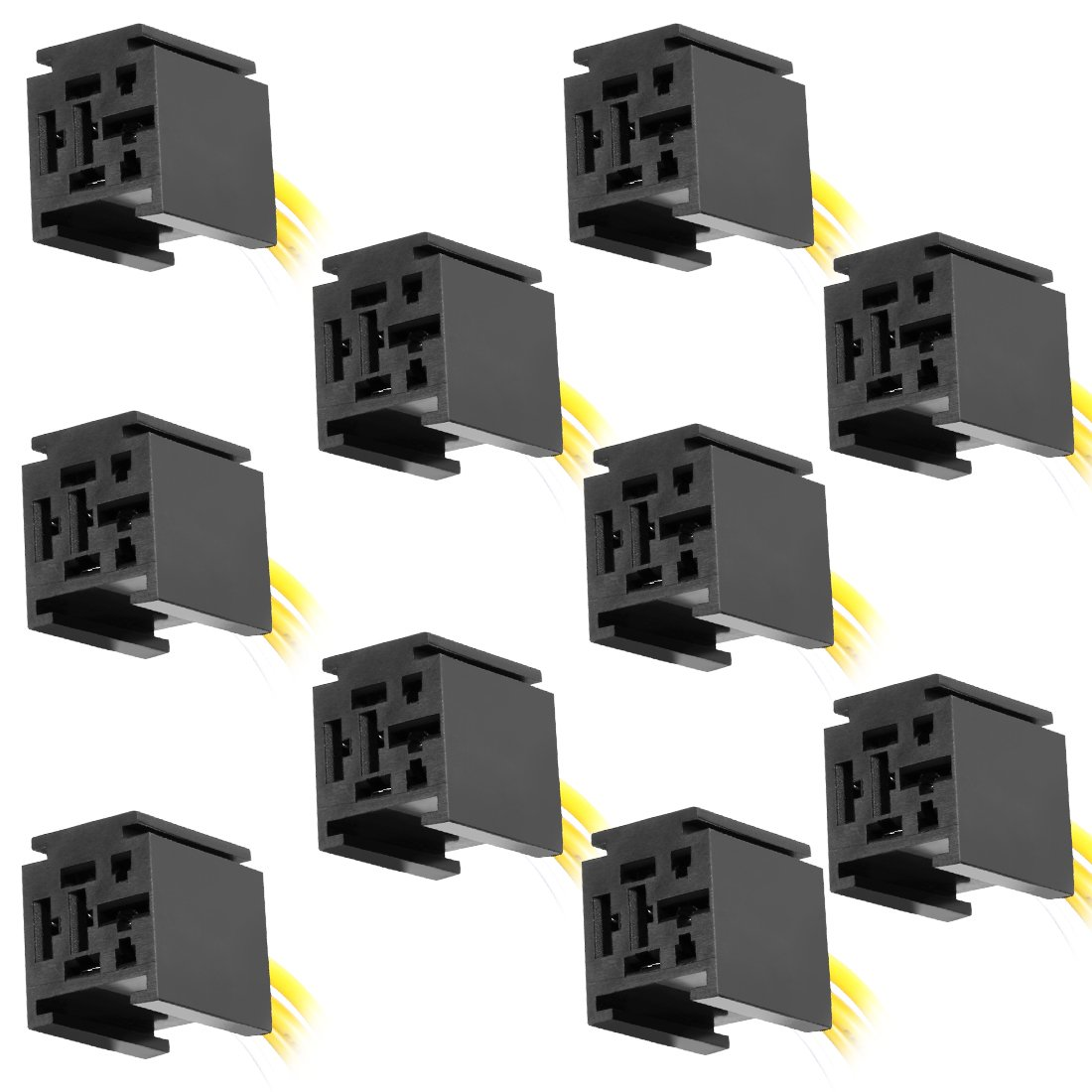 Best Rated In Automotive Replacement Accessory Power Relays 5 Pin Crossover Relay Uxcell 10pcs 12v Dc 60 70 80amp Spdt Interlocking Socket Harness