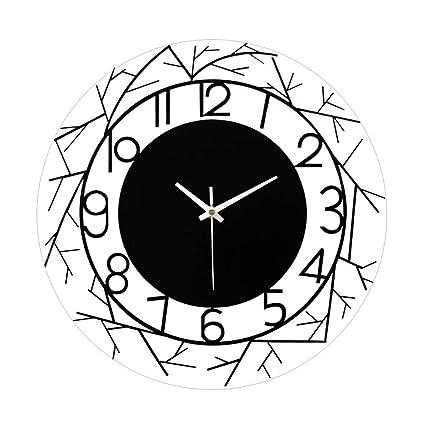 Amazon Com Lpd Wall Clock Acrylic Wall Clock Silent Battery