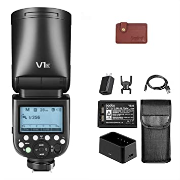 Godox V1S 76W Round Head Speedlite Flash for Sony TTL 1//8000 HSS 2600mAh Lithium