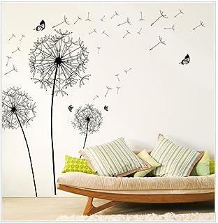 sandistore diy home decor new design large black dandelion wall sticker art decals pvc a - Design A Wall Sticker