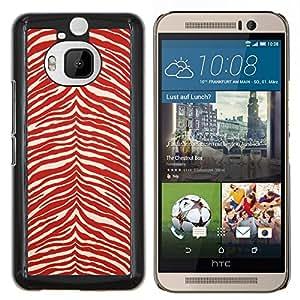 "Be-Star Único Patrón Plástico Duro Fundas Cover Cubre Hard Case Cover Para HTC One M9+ / M9 Plus (Not M9) ( Modelo de la cebra Wallpaper Red White Stripes"" )"
