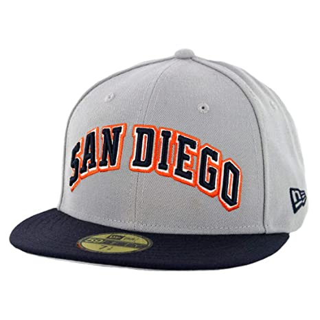 b2f3492f8b6 Image Unavailable. Image not available for. Color  New Era 59Fifty San  Diego Padres Wordmark 2 quot  Fitted Hat ...