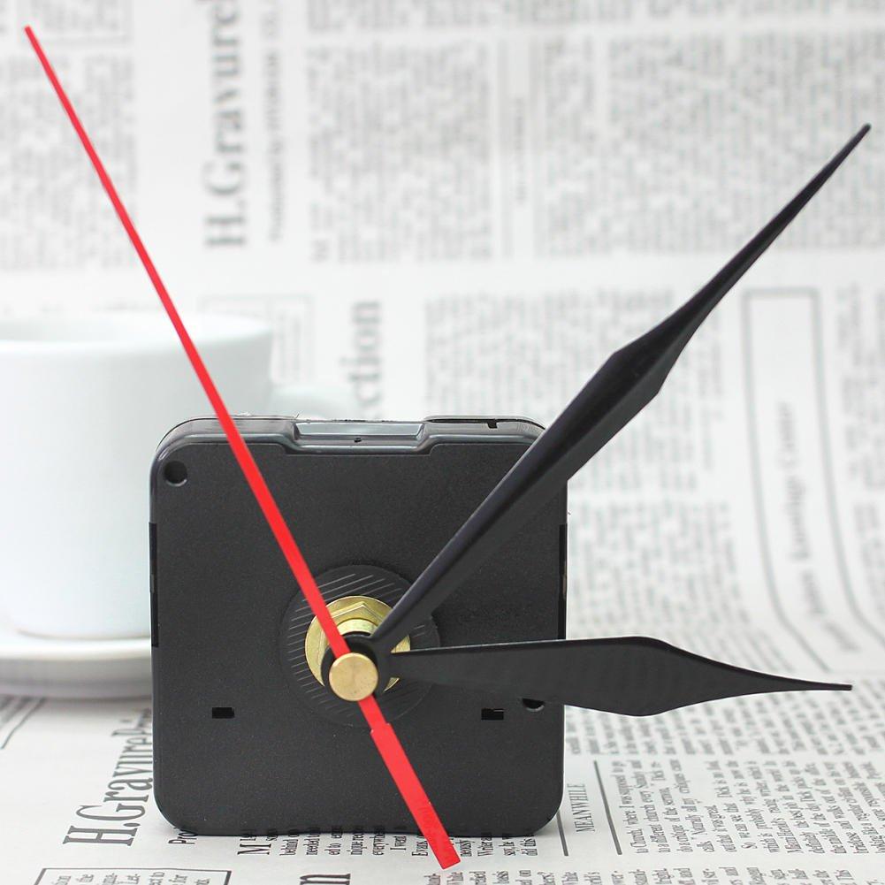 Amazon.com: Muccus Quartz Clock Movement DIY Mechanism Repair Replacing Parts Set Kit with Black Red Hands Quiet Silent 2018: Home & Kitchen
